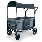 WonderFold W1 Multi-Function 2 Passenger Double Push Folding Stroller Wagon