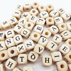 100pcs Wooden Alphabet Letter Diy Beads For Jewelry Making 10 Mm