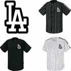 Los Angeles LA Dodgers Button Jersey Striped Baseball Open T-Shirts Uniform 1012 on Ebay