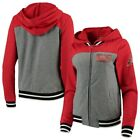 Arizona Diamondbacks New Era Women's French Terry Full-Zip Hoodie - Gray/Red on Ebay