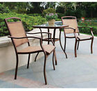 Outdoor Bistro Set Table And Chairs 3 Piece Patio Porch Deck Furniture Seats