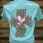 Southern Chics Apparel Heart Cross Leopard Zebra Comfort Colors Girlie Bright T