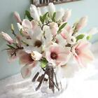 Artificial Silk Flowers Fake Orchid Magnolia Bouquet Home Party Wedding Decor