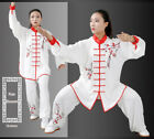 Chinese Tai Chi Suit Martial Arts Uniform Embroidery Clothing Kungfu Mens Womens