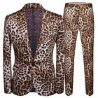 Printed Leopard Men's Suit Jacket And Pants Terno Event Party Casual Clothes New