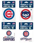 "Chicago Cubs Perfect Cut 4"" x 4"" Decal on Ebay"