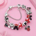 2019 European 925 Silver Charms Bracelet with Silver Disney Mickey Minnie Beads image