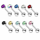 1 Pc Surgical Steel Tongue Ring Rings Barbell 14g 5/8