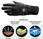 Winter Golf Gloves Rain Grip Pair Warm Windproof with Ball Marker Mens Womens
