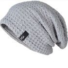 MENS SLOUCH BEANIE HAT FESTIVAL CLUB CAMPING BAGGY LONG OVERSIZED KNIT SKULLCAP