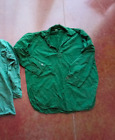 Swedish army M59 green shirt military surplus popover pullover