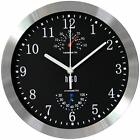 hito Modern Silent Wall Clock Non Ticking Accurate Sweep Movement Aluminum Cover
