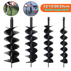 12/15/20/25cm Dual Blade Auger Bit Drill Planting Earth Petrol Post Hole Digger