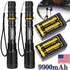 Tactical Police 300000Lumens T6 LED 5Modes 18650 Flashlight Aluminum Focus Torch