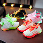 Kids LED Luminous Shoes Children Boys Girls Light Up Sneakers Cute Trainers Cool