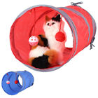 Dog Cat Tunnel Pet Agility Exercise Training Tube With Tinkle Bell & Plush Ball