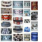 "NFL FOOTBALL 1"" GROSGRAIN RIBBON 4 HAIR BOWS DIY CRAFTS COWBOYS BEARS CHIEFS $1.79 USD on eBay"