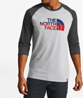 The North Face Men's 3/4 Americana Tri-Blend Baseball Tee Shirt Size XL  NWT