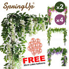 Artificial Silk Flowers Wisteria Hanging Fake Garden Plants Vines Decor Home