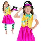 Girls Mad Hatter Costume Kids Alice Fancy Dress Child Book Week Day Outfit