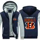 Cincinnati Bengals Fans Hoodie Fleece zip up Coat winter Jacket warm Sweatshirt $18.99 USD on eBay