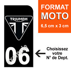 1 Sticker Plate Number Plate Motorcycle Black, Triumph N° of Dept to Choose $6.8 AUD on eBay