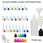 Eye Dropper Bottles + Funnels Empty Squeezable LDPE Plastic Liquid Bottle RIV
