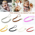 Leather Pacifier Clip Chain Nipple Dummy Clip Pacifier Holder Braided Clip Kit
