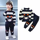2pcs Toddler Kids Baby Boys Clothes CottonPullover Shirt +Pants Outfits Set 1-5T