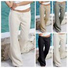 Ladies Comfy Lace-up Loose Flared Pants Trousers With Pocket Fitness Fashion New