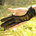 Archery Glove 3-Fingers Protective Tab Gear Guard Target Bow Shooting Anti-skid