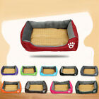 Pet Bed Cushion Dog Soft Cooling Kennel Pad Summer Heat Relief Washable Cool