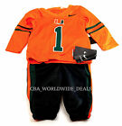 NEW Nike Miami Hurricanes Infant Baby 2 Piece Jersey  Pant Set 3-6M/ 6-9M