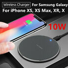 Qi Wireless Charger Pad 10W Fast Charging Dock  for iPhone Samsung Galaxy Huawei