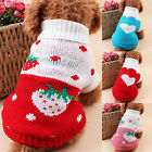 Pet Dog Winter Warm Sweater Clothes Knit Wool Line Coat Winter Love Heart Print
