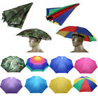 Outdoors Foldable Sun Umbrella Hat Fishing Camping Hiking Headwear Cap Head Hat