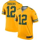 Men's Green Bay Packers Aaron Rodgers Gold NFL Football Inverted Legend Jersey $67.49 CAD on eBay