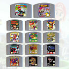 N64 Game Mario Kart Bros Party 1 2 3 Tennis Zelda Conker Castlevania US/CAN Only
