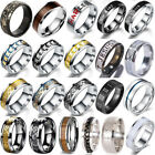 Men Silver Celtic Dragon Ring 8mm Titanium Stainless Steel Wedding Band Ring Lot