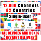 IPTV 12,000 Chans + VoD | 82 Countries | SPORTS HD | All Devices | Warranty Only