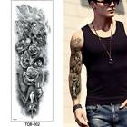 Temporary Full Arm Leg Tattoo Sticker Big Large Fake Buddha Flower Body Art CA $1.89 USD on eBay