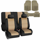 Universal Neoprene Seat Covers For Car SUV 5 Colors Combo With Beige Floor Mats $74.99 USD on eBay