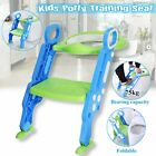 Adjust Toddler Potty Trainer Chair Kids Toilet Seat Step Stool Ladder Folding US image