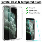 For iPhone 11 Pro Max Crystal Clear Armor Slim Case Cover With Screen Protector