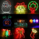 Neon Led Light Heart Sign Night Lamp Standing Decor Wall Home Xmas Halloween UK