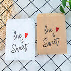 25pcs Love Is Sweet  Paper Bags Wedding Favor Treat Pouch Supplies