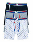 Champion 3-Pack Boxer Briefs Men's Everyday Comfort All Over Logo Underwear New