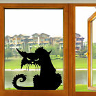 Uk Scary Black Cat Halloween Party Wall Sticker Home Window Decoration Decal S/l