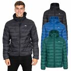 Trespass Carruthers Mens Padded Jacket Casual With Hood In Black Blue Green