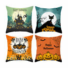4PCS Halloween Pillow Covers Pumpkin Printing Pillowcases Square 18x18inch US image